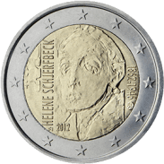 Moneda Conmemorativa de 2 Euros de Finlandia 2012 - 150 Años del Nacimiento de Helene Schjerfbeck