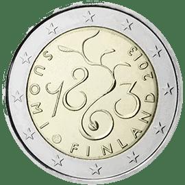 Moneda Conmemorativa de 2 Euros de Finlandia 2013 - 150 Años de Parlamento de 1863