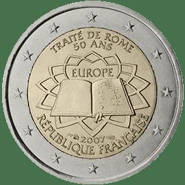 Moneda Conmemorativa de 2 Euros de Francia 2007 - Conmemorativa Común por el 50 Aniversario del Tratado de Roma