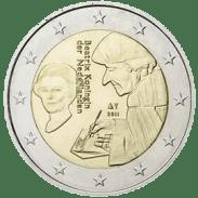 Moneda Conmemorativa de 2 Euros de Holanda 2011 - Quinto Centenario del Elogio de la Locura de Erasmo de Rotterdam