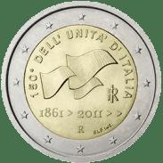 Moneda Conmemorativa de 2 Euros de Italia 2011 - 150 Años de la Unificación de Italia