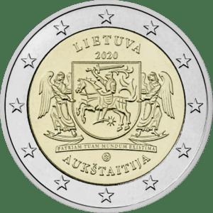 Moneda Conmemorativa de 2 Euros de Lituania 2020 - Región Etnográfica de Aukstaitija