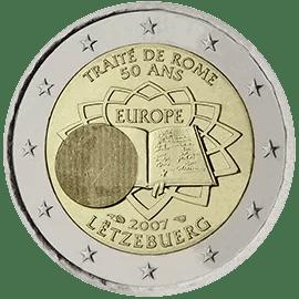 Moneda Conmemorativa de 2 Euros de Luxemburgo 2007 - Conmemorativa Común por el 50 Aniversario del Tratado de Roma