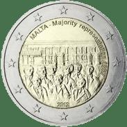 Moneda Conmemorativa de 2 Euros de Malta 2012 - Representación Mayoritaria en 1887