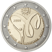 Moneda Conmemorativa de 2 Euros de Portugal 2009 - Segundos Juegos de la Lusofonía Lisboa 2009
