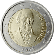 Moneda Conmemorativa de 2 Euros de San Marino 2004 - Bartolomeo Borghesi