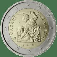 Moneda Conmemorativa de 2 Euros de San Marino 2011 - Quinto Centenario del Nacimiento de Giorgio Vasari