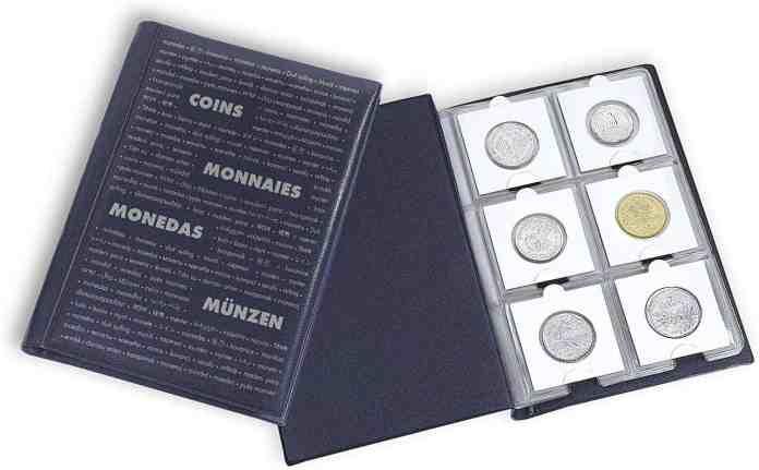 Álbum de monedas de bolsillo Leuchtturm
