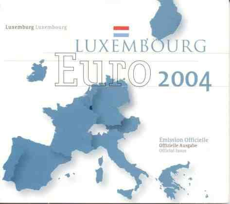 Cartera Anual Luxemburgo 2004 2 Euros Conmemorativos Monograma