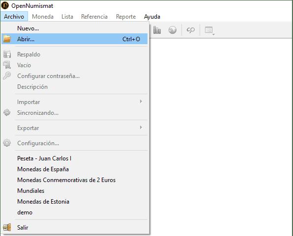 Como Instalar una Base de Datos en OpenNumismat