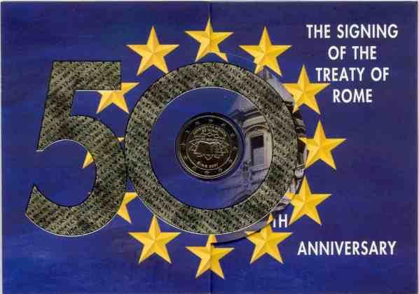 Cartera Anual Irlanda 2007 2 Euros Conmemorativos Tratado de Roma