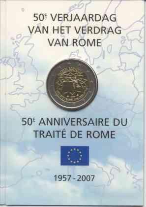 Coincard Bélgica 2007 2 Euros Conmemorativos Tratado de Roma