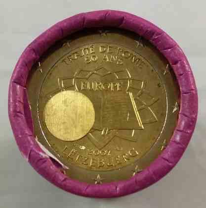 Rollo Luxemburgo 2007 2 Euros Conmemorativos Tratado de Roma