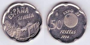 50 pesetas 1990