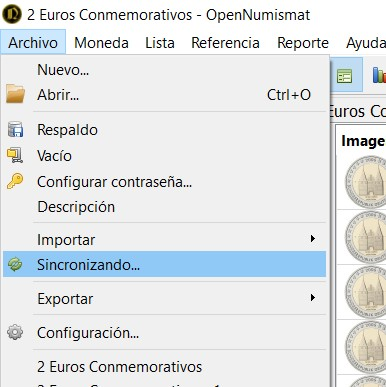 Actualización Catálogo OpenNumismat