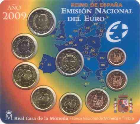 Cartera Anual España 2009 2 Euros Conmemorativos UEM