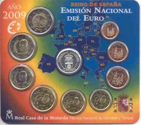 Cartera Cantabria España 2009 2 Euros Conmemorativos UEM