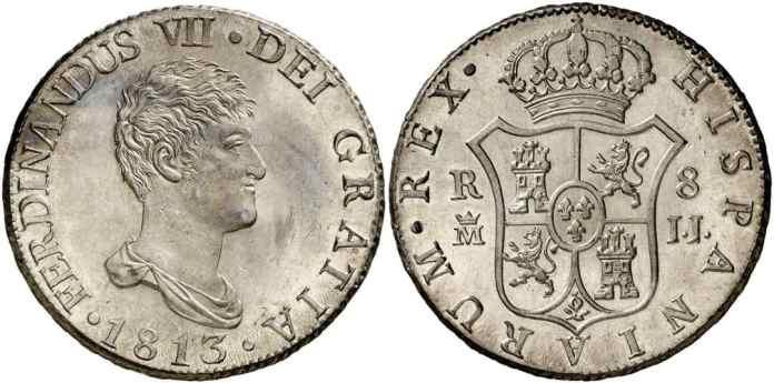 España 8 reales 1811 Flor de Cuño