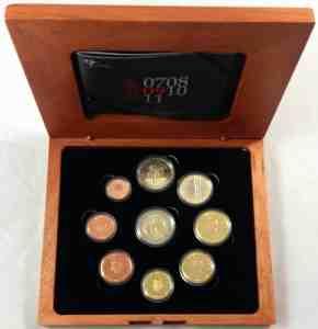Estuche Proof Holanda 2007 2 Euros Conmemorativos 10 Años de la UEM