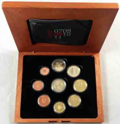 Estuche Proof Holanda 2009 2 Euros Conmemorativos 10 Años de la UEM