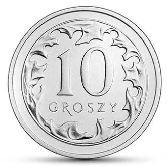 Polonia, 10 Groszy Series 2017-2020, Reverso