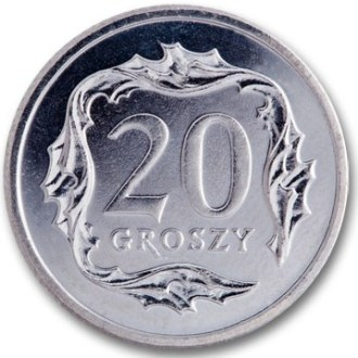 Polonia, 20 Groszy Serie 1995, Reverso