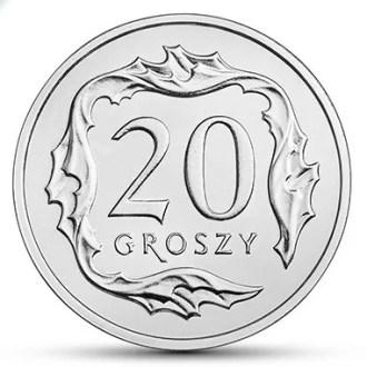 Polonia, 20 Groszy Series 2017-2020, Reverso