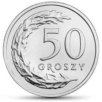 Polonia, 50 Groszy, Series 2017-2020, Reverso