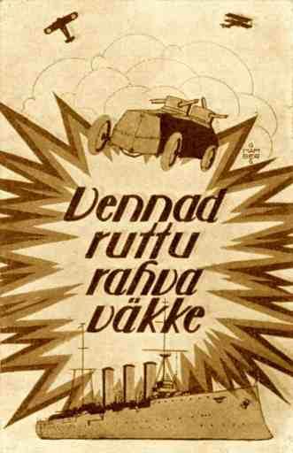 Poster de Reclutamiento Estonio de 1918