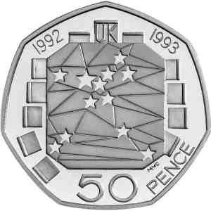 Reino Unido 50p 1992-1993 - Presidencia UE