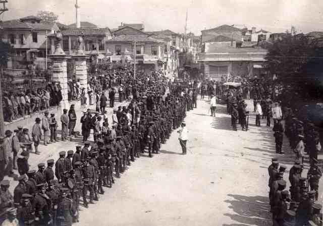 Soldados en Tesalónica durante la I Guerra Mundial