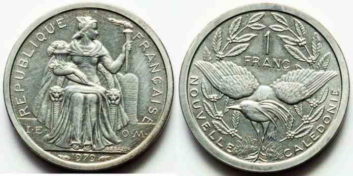 Nueva Caledonia 1 Franc 1979 Prooflike
