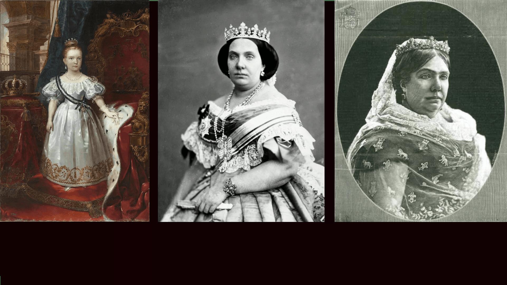 Isabel II de España: de niña a mujer en 6 monedas