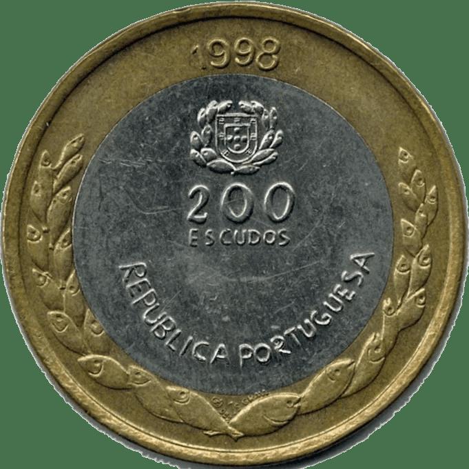 200 Escudos 1998 Portugal Anv