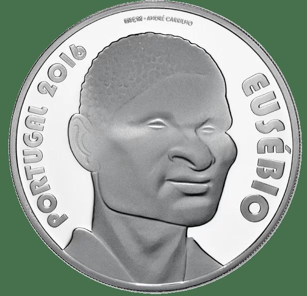 7,5€ Portugal 2016 Eusebio Reverso