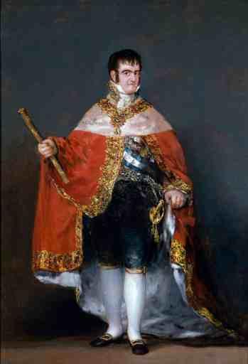 Retrato de Fernando VII por Goya