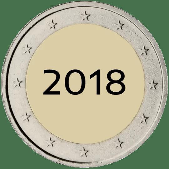 Lista de Monedas Conmemorativas de 2 Euros de 2018