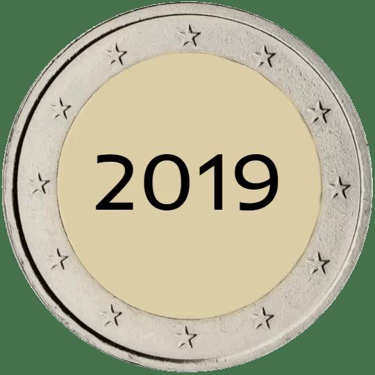 Lista de Monedas Conmemorativas de 2 Euros de 2019