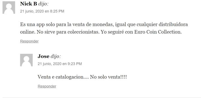 Comentarios Aplicación All Euro Coins
