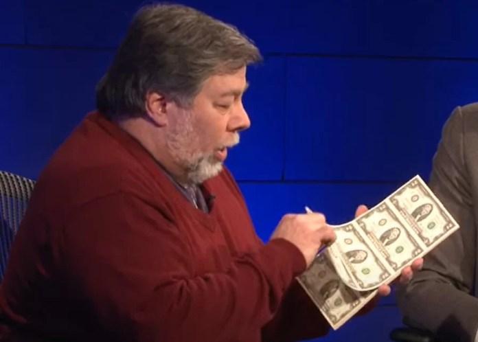 Steve Wozniak y el billete de 2 dólares