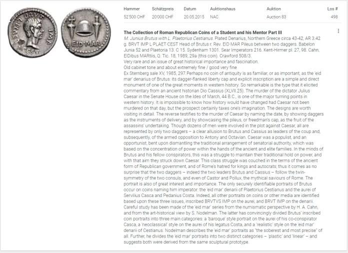 Denario Idas de Marzo: Análisis Numismático