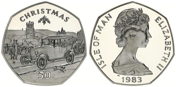 Isla de Man  50p 1983 coche