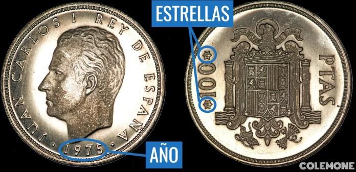 100 Pesetas 1975