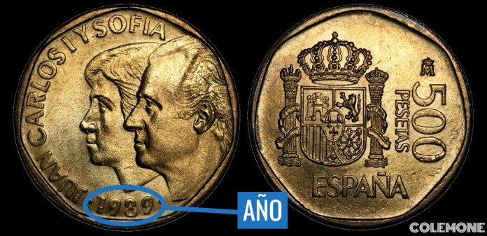 500 Pesetas 1989