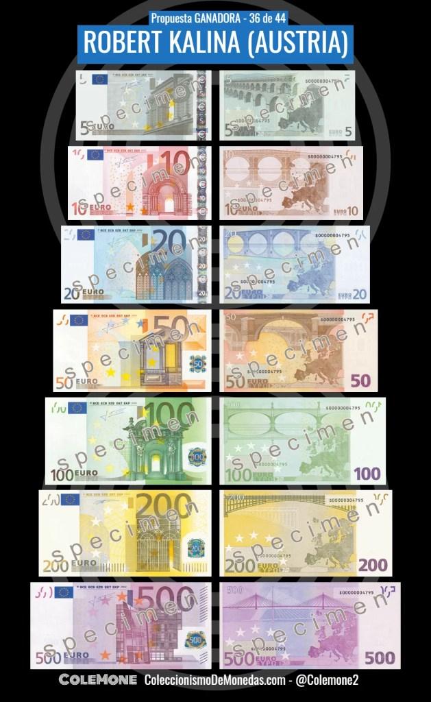 Diseño Ganador Billete Euro 36 Kalina