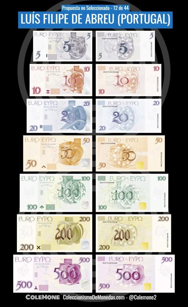 Diseño Perdedor Billete Euro 12 Abreu