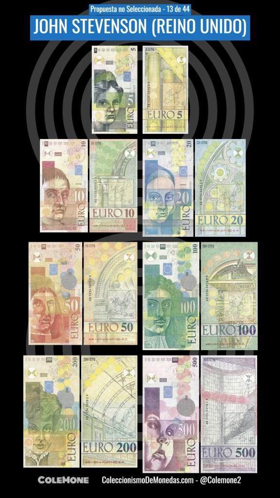 Diseño Perdedor Billete Euro 13 Stevenson