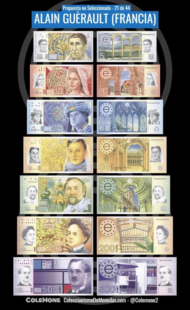 Diseño Perdedor Billete Euro 21 Guerault