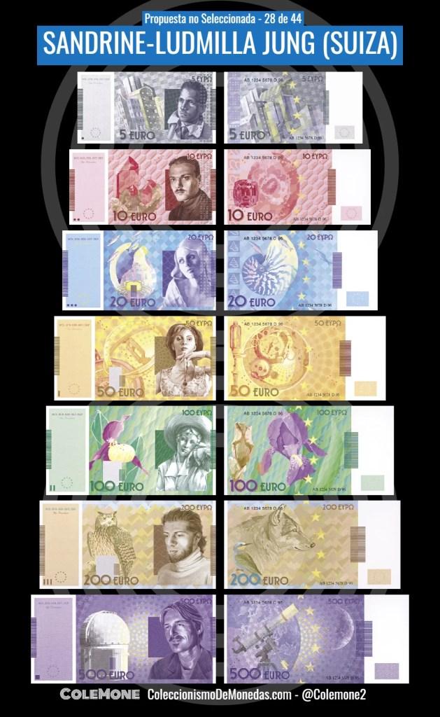 Diseño Perdedor Billete Euro 28 Jung