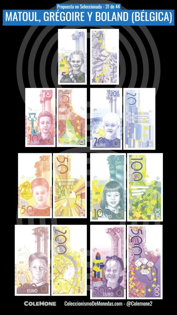 Diseño Perdedor Billete Euro 31 Matoul
